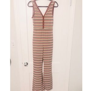 Flared striped jumpsuit